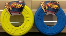 """NERF DOG 10"""" LIME GREEN ATOMIC FLYER RUBBER FRISBEE LARGE IN"""