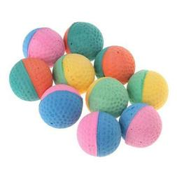 10 Pcs Pet Toy Latex Balls Colorful Chew For Dogs Cats Puppy