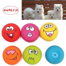 12Pack Zanies Latex Dog Puppy Play Squeaky Rubber Ball With