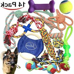 14 Pack Puppy Chew Dog Rope Toy Assortment for Small Medium