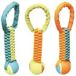 Boss Pet Products 1868090 Braided Chomper Pet Toy Tennis Tug