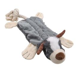 1Pack Plush Animal Dog Toy Set Dog Squirrel Squeaky Unstuffe