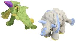 2 count frills dino plush toy