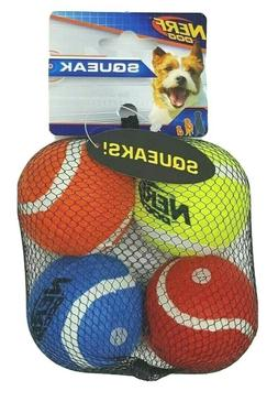 NERF Dog 2 in Squeak Tennis Ball Dog Toys Set of 4