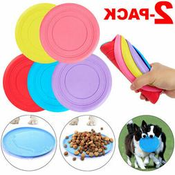 2-PACK Dog Frisbee Toy Exercise Pet Training Tool Puppy Sauc