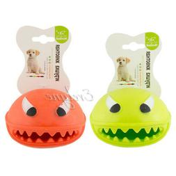 2-pc Pet Supplies Soft Chew Toy Treat Feeder For Dog Monster