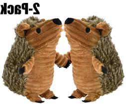 2Pcs Dog Chewer Toy Stuffed Plush Hedgehog Squeaky Toys for