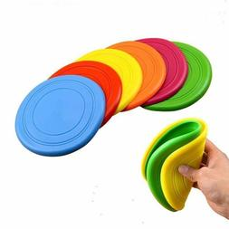 3 Pieces Soft Pet Toy Frisbee Flying Disc Tooth Resistant Ou