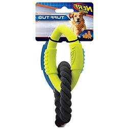 Nerf Dog Medium to Large 3-Ring Tug Interactive 9-Inch Rubbe