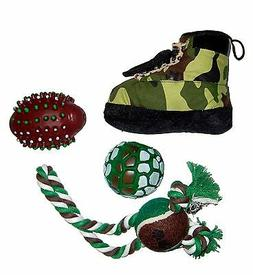 4 Piece Hunter Camouflage Chew Rope Squeak Holiday Pet Dog T