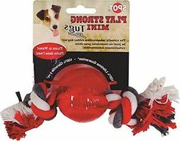 Ethical Dog 54101 Play Strong Mini Tugs Ball with Rope Dog T