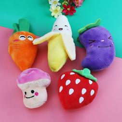 5Pcs Cute Squeaky Dog Toys for Small Dogs Fruits and Vegetab