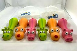 """6 PACK - Squeaky Latex Toys 6"""" Fetch Dog Toy Puppy Play Toy"""