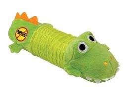 Stuffing Free Squeaking Plush Dog Toy, Big Squeak Gator by P