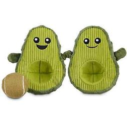 """Leaps & Bounds Play Plush Avocado Dog Toy, 7"""", Small"""