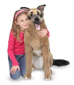 Melissa & Doug Giant German Shepherd - Lifelike Stuffed Anim