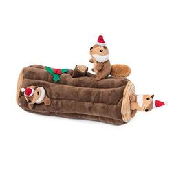 ZippyPaws - Holiday Burrow, Interactive Squeaky Hide and See