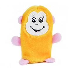 ZippyPaws - Squeakie Buddie No Stuffing Plush Dog Toy - Monk