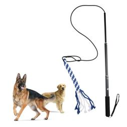 Flirt Pole V2 Dog Exercise & Training Toy w/ braided Fleece