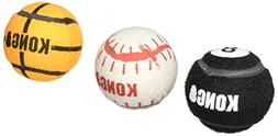 KONG 3-Pack Sport Balls Dog Toy, Medium, Assorted