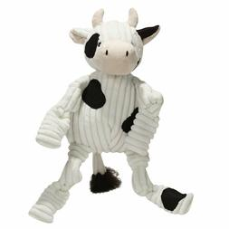 """Hugglehounds Barnyard Knottie Cow 6""""/6 Pack Multicolored"""