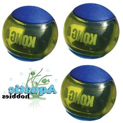 BLUE Kong Squeezz Action Ball MultiTextured Fetch Toy for Do