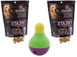 StarMark Bob-A-Lot Interactive Dog Toy with 2 Packs of StarM