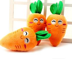Carrot Plush Chew Squeaker Cute Puppy Pet Supplies Sound Squ