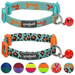Blueberry Pet Pack of 2 Cat Collars, Hunting Expedition with
