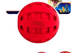 Nerf Dog Checker Squeak Rubber Ball Dog Toy, Small/Medium, R