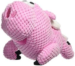 goDog Checkers Flying Pig with Chew Guard Technology Tough P