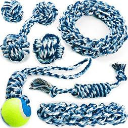 Chewers Play Dog Rope Toy For Medium Dogs & Puppy, Teething,