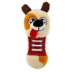 Top Paw ChewShoes Plush, Squeaker Puppy Dog Toy