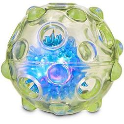 """Leaps & Bounds Chomp and Chew Light Up Ball Dog Toy, 3.5"""", X"""