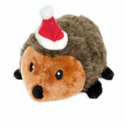 ZippyPaws Christmas Hedgehog Large Squeaky Plush Dog Toy Zip