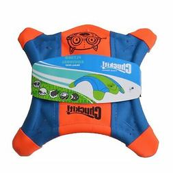 Chuckit! Flying Squirrel Spinning Dog Toy Orange/Blue 3 Size