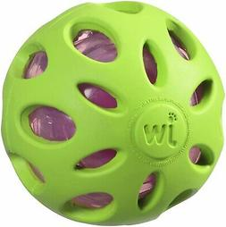 JW Pet Company Crackle Heads Crackle Ball Dog Toy Plastic Bo