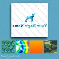 Custom Toy Fox Terrier Dog Name Decal Sticker - 25 Printed F