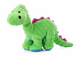 goDog Dinos Bruto Tough Plush Dog Toy with Chew Guard Techno