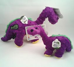 GoDog Dinos Chew Guard Bruto Dog Toy, Purple, Small or Large