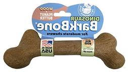 Pet Qwerks Dinosaur Wood BarkBone with Peanut Butter Dog Che