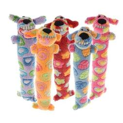 12-Inch Loofa Dog for Breast Cancer Dog Plush Toy, Colors Ma