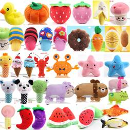 Dog Chew Squeaker Sound Toy Cute Plush Squeaky Play Toy Lot