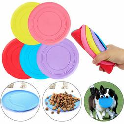 Dog Frisbee Toy Exercise Pet Training Tool Silicone Puppy Sa