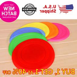 DOG PUPPY PET SILICON COLOR FLYING FRISBEE SOFT PLAY OUTDOOR