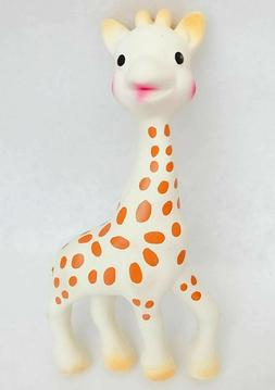 Dog Puppy Squeaker Latex Giraffe Toy Throw And Chew