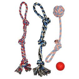 XL DOG ROPE TOYS FOR AGGRESSIVE CHEWERS - LARGE DOG BALL FOR