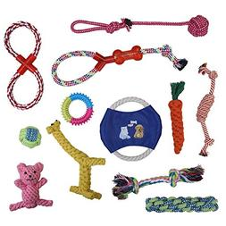 Vivifying Dog Rope Toys 12 Pack Pet Toy Gift Set Puppy Chew