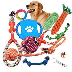 Dog Rope Toys 10 Pack Set Pet Puppy Teething Chew Rope Tug A