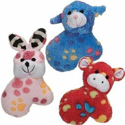 Zanies Dog SILLY SQUAD Toy Squeaker Soft Plush Puppies Dogs